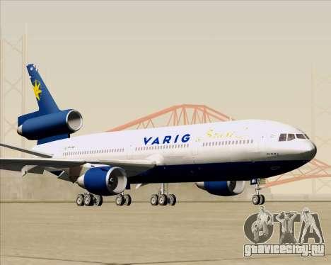 McDonnell Douglas DC-10-30 VARIG для GTA San Andreas вид изнутри