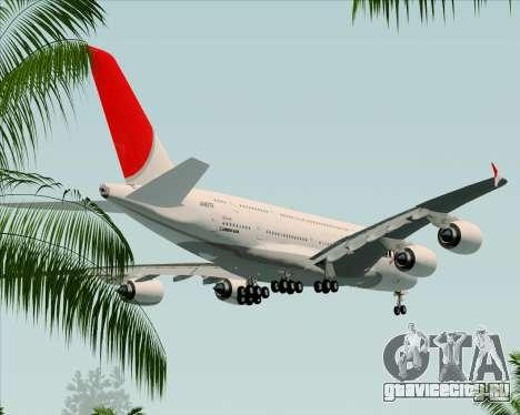 Airbus A380-800 Japan Airlines (JAL) для GTA San Andreas вид сверху