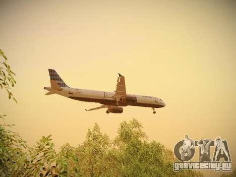 Airbus A321-232 jetBlue Airways для GTA San Andreas салон