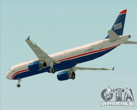Airbus A321-200 US Airways для GTA San Andreas вид сверху