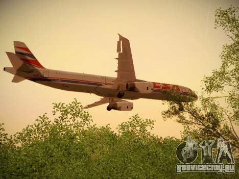 Airbus A321-232 Czech Airlines для GTA San Andreas вид снизу