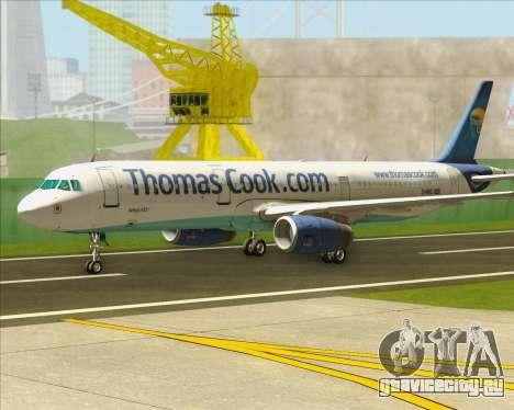 Airbus A321-200 Thomas Cook Airlines для GTA San Andreas вид слева