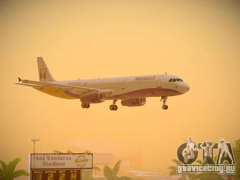 Airbus A321-232 Monarch Airlines для GTA San Andreas вид снизу