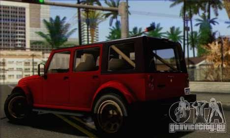 Canis Mesa для GTA San Andreas вид слева