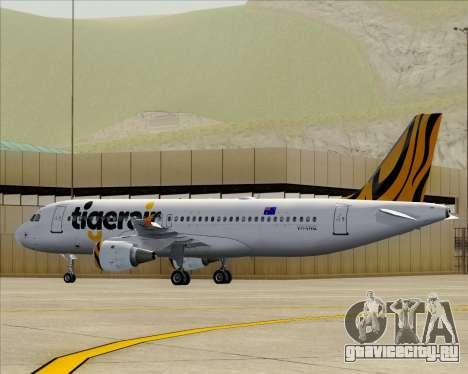 Airbus A320-200 Tigerair Australia для GTA San Andreas двигатель