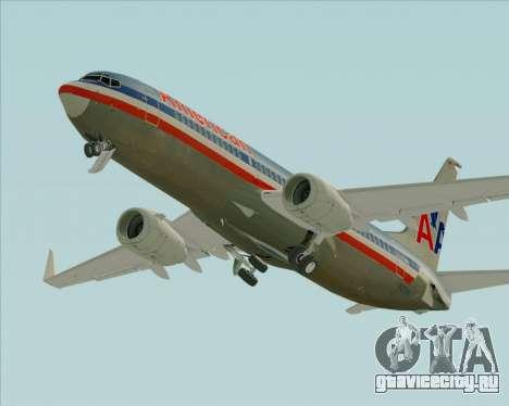 Boeing 737-800 American Airlines для GTA San Andreas вид сверху