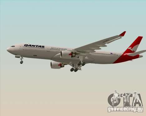 Airbus A330-300 Qantas (New Colors) для GTA San Andreas вид изнутри