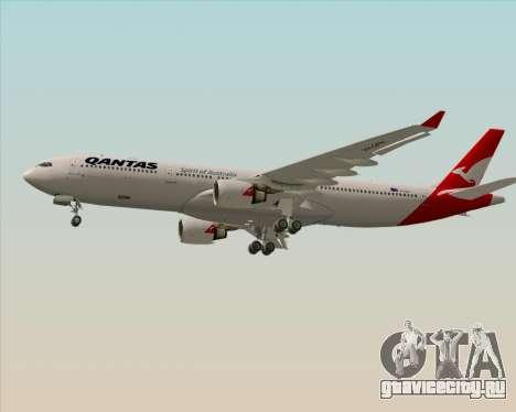 Airbus A330-300 Qantas (New Colors) для GTA San Andreas вид изнутри