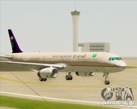 Airbus A321-200 Saudi Arabian Airlines для GTA San Andreas вид снизу