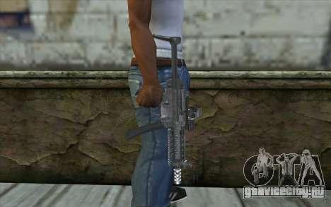 Silver MP5 для GTA San Andreas третий скриншот