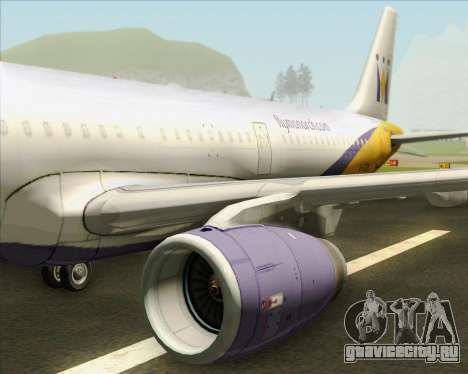 Airbus A321-200 Monarch Airlines для GTA San Andreas двигатель