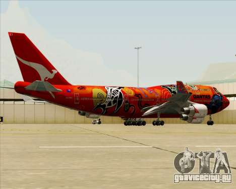 Boeing 747-400ER Qantas (Wunala Dreaming) для GTA San Andreas колёса