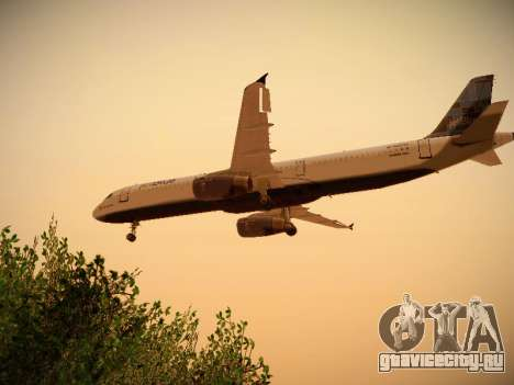Airbus A321-232 jetBlue Do-be-do-be-blue для GTA San Andreas вид сзади