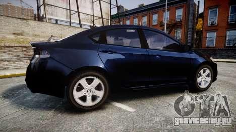 Dodge Dart 2013 Undercover [ELS] для GTA 4 вид слева