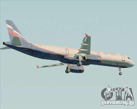 Airbus A321-200 Aeroflot - Russian Airlines для GTA San Andreas вид сзади