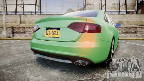 Audi S4 2010 FF Edition для GTA 4 вид сзади слева