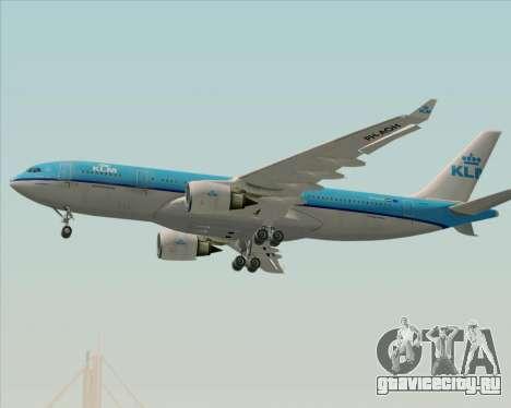 Airbus A330-200 KLM - Royal Dutch Airlines для GTA San Andreas вид сверху