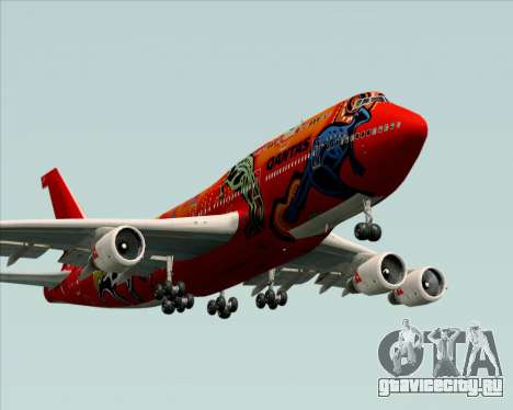 Boeing 747-400ER Qantas (Wunala Dreaming) для GTA San Andreas двигатель