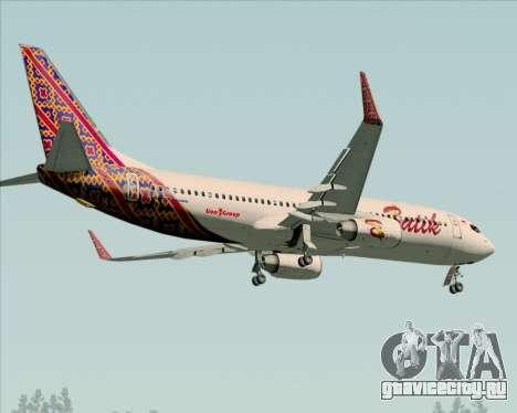Boeing 737-800 Batik Air для GTA San Andreas вид сбоку