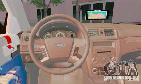 Ford Fusion NYPD v2.0 для GTA San Andreas вид сзади слева