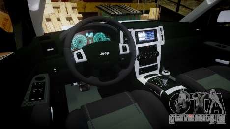 Jeep Grand Cherokee SRT8 stock для GTA 4 вид сзади