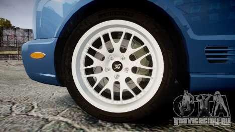 Bentley Arnage T 2005 Rims2 Black для GTA 4 вид сзади