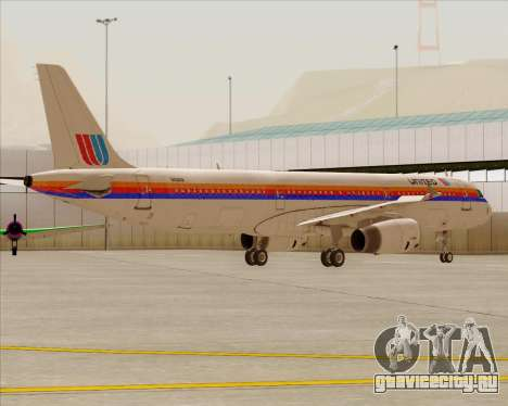 Airbus A321-200 United Airlines для GTA San Andreas колёса