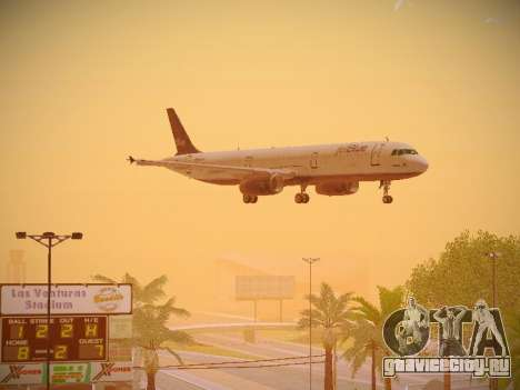 Airbus A321-232 jetBlue Batty Blue для GTA San Andreas вид изнутри