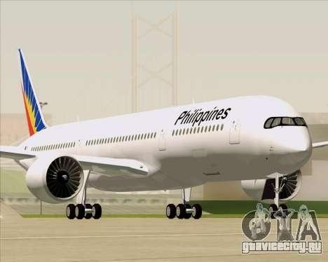Airbus A350-900 Philippine Airlines для GTA San Andreas двигатель