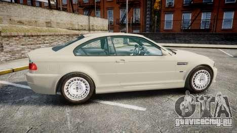 BMW M3 E46 2001 Tuned Wheel White для GTA 4 вид слева