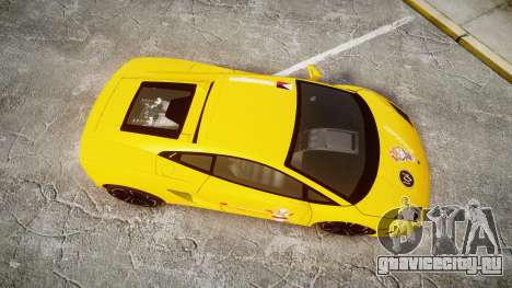 Lamborghini Gallardo 2013 Honoka Kousaka для GTA 4 вид справа