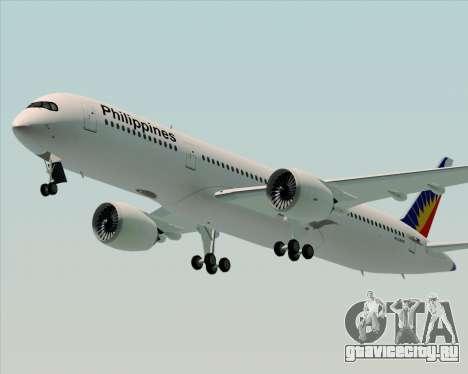Airbus A350-900 Philippine Airlines для GTA San Andreas вид справа