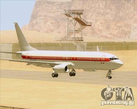 Boeing 737-800 EG&G - Janet для GTA San Andreas вид сзади