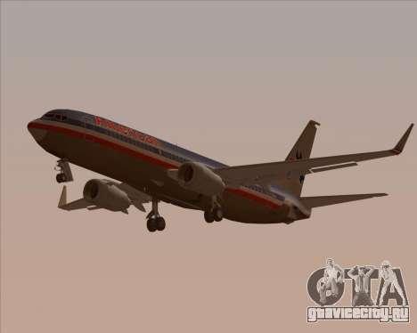 Boeing 737-800 American Airlines для GTA San Andreas вид снизу