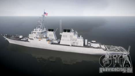 US Navy Destroyer Arleigh Burke для GTA 4 вид слева