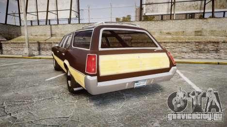 Oldsmobile Vista Cruiser 1972 Rims2 Tree5 для GTA 4 вид сзади слева