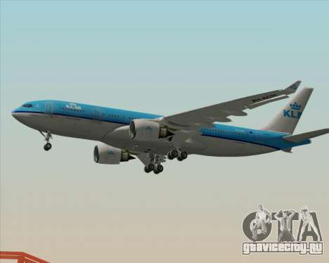 Airbus A330-200 KLM - Royal Dutch Airlines для GTA San Andreas вид сзади слева