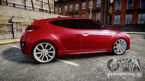 Hyundai Veloster Turbo 2012 для GTA 4 вид слева