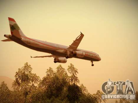 Airbus A321-232 Middle East Airlines для GTA San Andreas двигатель