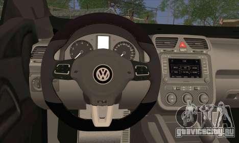 Volkswagen Scirocco 2011 для GTA San Andreas вид сзади слева