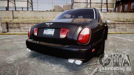 Bentley Arnage T 2005 Rims2 Chrome для GTA 4 вид сзади слева