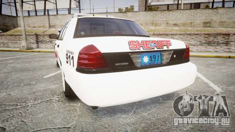 Ford Crown Victoria LC Sheriff [ELS] для GTA 4 вид сзади слева
