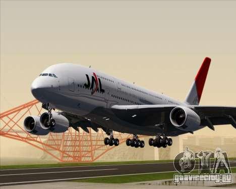 Airbus A380-800 Japan Airlines (JAL) для GTA San Andreas вид слева