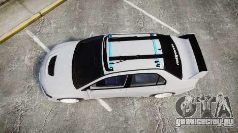 Mitsubishi Lancer Evolution VIII Stance для GTA 4 вид справа