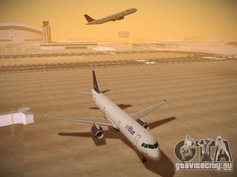 Airbus A321-232 jetBlue Batty Blue для GTA San Andreas вид сзади