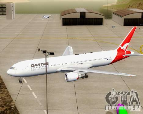 Boeing 767-300ER Qantas (Old Colors) для GTA San Andreas двигатель