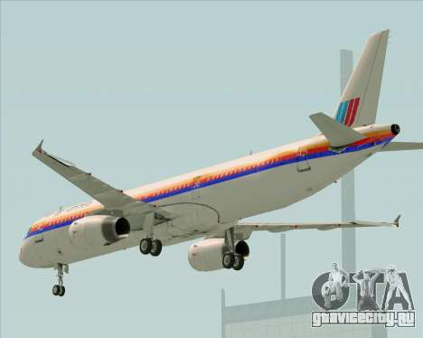 Airbus A321-200 United Airlines для GTA San Andreas вид сбоку