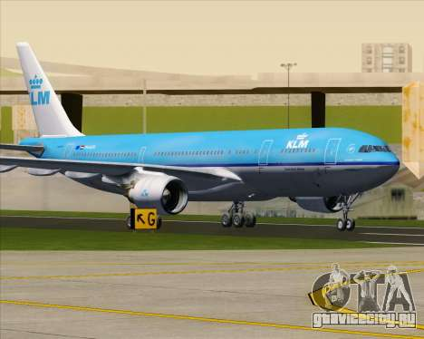 Airbus A330-200 KLM - Royal Dutch Airlines для GTA San Andreas вид снизу