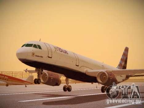 Airbus A321-232 jetBlue Airways для GTA San Andreas вид слева