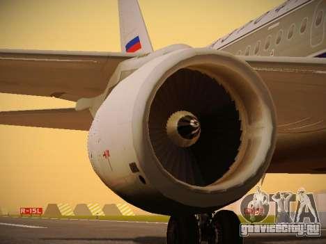 Airbus A320-214 Aeroflot Retrojet для GTA San Andreas двигатель